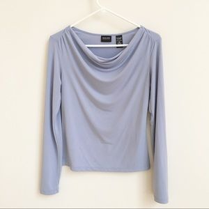 New York & Company Stretch swoop neck Periwinkle